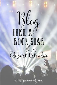 How to create an editorial calendar and blog all year long for your creative business