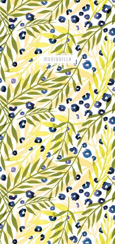 Moniquilla designed for Urban Outfitters, Anthropologie, and Textile Patterns, Textile Prints, Color Patterns, Print Patterns, Surface Pattern Design, Pattern Art, Botanical Prints, Floral Prints, Backgrounds Wallpapers