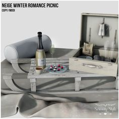 https://flic.kr/p/22gqaRL | Serenity Style - Neige Winter Romance Picnic for Deco(c)rate | The December Deco(c)rate has been released and...here is our exclusive set for the round.  If you didn´t pre-ordered you crate but you want to get it you  can still purchase it trough any of the kiosks available inworld  Just check the Deco(c)rate Website