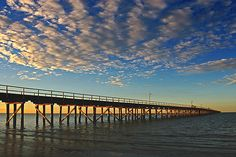 Sunset at the Urangan Pier, Hervey Bay, Queensland, Australia. © Darren Stones All Rights Reserved Aussie Australia, Visit Australia, Queensland Australia, Australia Travel, Harvey Bay, Fraser Island Australia, Places To Travel, Places To See, Visit Melbourne