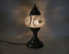 Moroccan Lantern, Table Lamp, Turkish Lamp, Night Shade, Mosaic Candle  Holder 32 #Handmade #ArtDecoStyle   Mosaic Candle Holders   Pinterest    Mosaics, ...