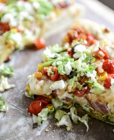 BLT Pizza with Grilled Corn and Crumbled Feta
