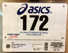 13th 5K - INNER HARBOR.  August 24, 2014.  Syracuse, NY.  Time 30:03min (9:41). Running Bibs, Fleet Feet, August 24, Prints