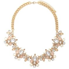 Faux Stone Petal Statement Necklace - Jewellery - 1000185616 - Forever... (20 CAD) ❤ liked on Polyvore featuring jewelry, necklaces, stone jewelry, statement necklace, forever 21 jewelry, forever 21 necklace and artificial jewellery