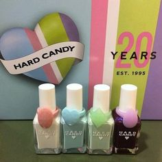 Exciting News from Hard Candy (Spring 2015 Sneak Peeks and the Return of Old Favorites)  Hard Candy Nail Polish in Coconut, Sky, Mint, Scam Original shades and original formula, back for a limited time this April