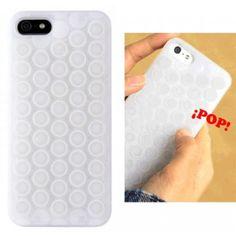 Funda iPhone 5 para reventar burbujas.