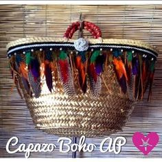 Capazos Rosana Molto by RosanaMoltoCapazos Summer Handbags, Summer Bags, Ibiza, Diy Sac, Diy Bags Purses, Diy Tote Bag, Unique Purses, Creation Couture, Boho Bags