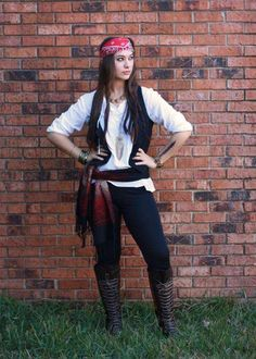 Ladies DIY Pirate Costume | 25 DIY Pirate Costume Ideas, check it out at…