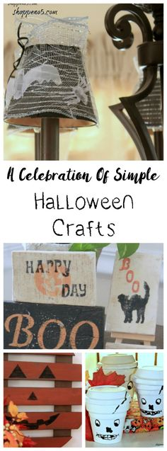 It seems like we start thinking about Halloween earlier and earlier. The decorations are so creative and so much fun. But who wants to invest a lot of money in decorating for Halloween? Stick with me for a celebration of simple Halloween crafts.