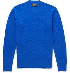 BerlutiTextured-Cashmere Sweater