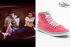 Hayley Williams: Red High-Top Sneakers