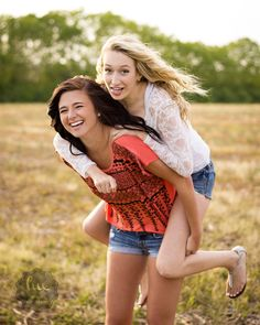 Love this for a sister picture or a best friend picture.