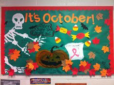 Noor Hachwi celebrates autumn, Halloween, and safety in this festive bulletin board.