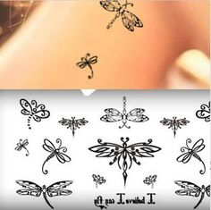 The New Simulation Cute Little Fresh Insects Dragonfly Tattoo Stickers Waterproof Temporary Tattoo Stickers Body Art For Women Sister Tattoos, New Tattoos, Body Art Tattoos, Small Tattoos, Cool Tattoos, Henna Tattoos, Tattoo Art, Dragonfly Tatoos, Dragonfly Tattoo Design