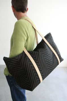 Repurposed Moving Blanket Weekender Bag by Chuck Routhier on Scoutmob Moving Blankets, Chevron, Man Quilt, Stylish Handbags, Color Changing Led, Day Bag, Cute Bags, Diy Clothes, Bag Making