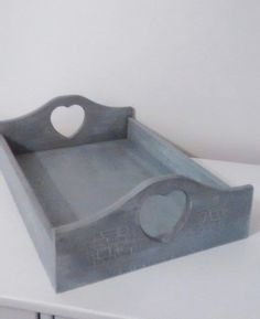 Shabby Chic Frenchic Lady Grey  Wooden Cutlery Tray