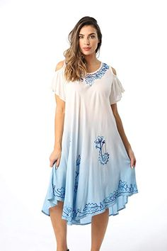 f3994ffbac Riviera Sun Cold Shoulder Ombre Casual Sundress for Women at Amazon Women's  Clothing store: Free Return on some sizes and colors