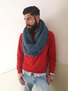 Hipster Cowl Crochet Scarves, Knit Crochet, Cowl, Hipster, Knitting, Trending Outfits, Handmade Gifts, Men, Clothes