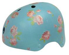 Vintage Wallpaper Chic - Belle Hand Painted Bike Helmet