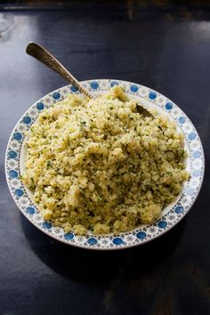Herbed Lemon Quinoa with sautéed shallots and parsley | SAVEUR