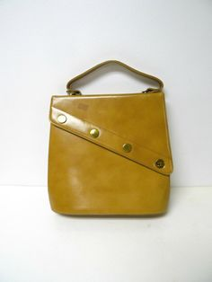 Sheldon . New York . 60s 70s faux leather top handle bag by june22