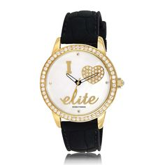 #Elite - Ladies dress - Set with Swarovski crystals on the dial, bezel and crown. Elite Models Fashion Watches are directly inspired by and licensed from the glamorous universe of the world's N°1 modeling agency based in Paris. Elite model watches are fashionable, glamorous, stylish, feminine and have an outstanding design with a French Touch.