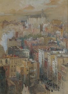 Colin Campbell Cooper (American, 1856). View of New York City. The Metropolitan Museum of Art, New York. Gift of Margaret and Raymond J. Horowitz, 1983 (1983.531)
