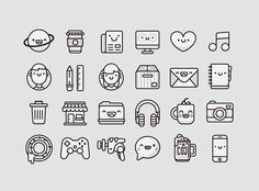 In case you need a cute icon set check these out  Pamoke - Free Icon Set,