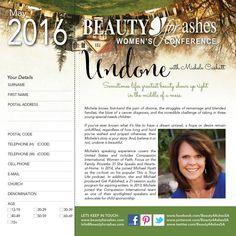 Back page of our Conference Booklet Event Registration, Special Needs Kids, First Names, Booklet, Divorce, Conference, Beauty, Special Needs Children, Beauty Illustration