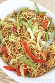 This vegetable chow mein is a clean eating dish that will be delicious! | the naked kitchen