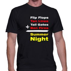 This tee has all the things listed to have a fun summer night!