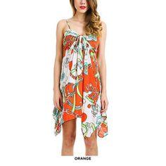 Juniors' Super Cute Asymmetric Hem Summer Dress - Assorted Colors & Extended Sizes at 66% Savings off Retail!