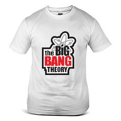 The big bang #theory logo #movie sheldon cooper comic white mens #t-shirt 2863-wh,  View more on the LINK: http://www.zeppy.io/product/gb/2/201365922786/