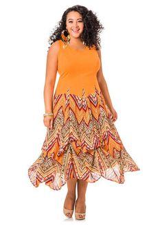 Print Bottom Bubble Maxi Dress