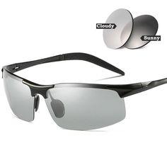 65fce15c662 MOTELAN Men s Photochromic Polarized UV400 Sunglasses for Outdoor Fishing  Golf B Uv400 Sunglasses