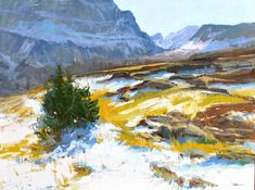 Fall at Logan Pass, 24x32,oil on linen. Available through Putnam Studio