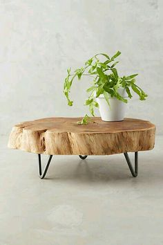 Footed Wood Slab Tray This on top of the coffee table in the living room could be a layered texture thing. Log Furniture, Furniture Projects, Business Furniture, Tree Stump Furniture, Rustic Wood Furniture, Outdoor Furniture, Furniture Companies, Luxury Furniture, Furniture Makeover