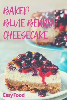 The best baked blueberry cheesecake recipe on the internet! Absolutely scrumptious. #blueberry #cheesecake #dessert #afternoontea #cake #homebaking #baking #delicious