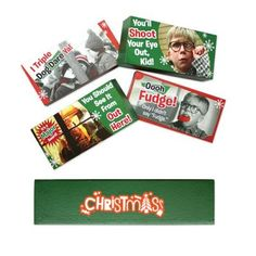 """Customized Christmas Story Licensed Decorative Wooden Block Assortments: Product Size: 5"""" X 2 1/2"""". Imprint Area: 4"""" X 7/8"""". Carton Weight: 8 lbs. Packaging: 48. Material: Wood. Production Time: 5 Working Days. #Decorativeitems #customwoodenblocks #promotionalproduct #customproduct #christmasgiveaways  #xmastreedecor"""