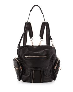 Marti Soft-Wash Lambskin Backpack, Black by Alexander Wang at Neiman Marcus.
