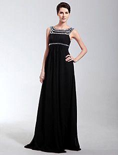 Empire Scoop Floor-length Chiffon Evening Dress – USD $ 149.99