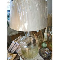 Recycled Glass Wine Jug Lamp $349
