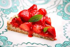 Hazelnut Tart With Fresh Strawberries | Hungry Hounds
