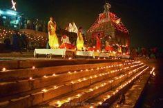 Holy Light at River Ganga, India