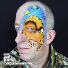 Alien face painting