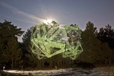 Javier Riera creates these brilliant temporary works of art by projecting geometric patterns onto the natural landscape Read more: Javier Riera Illuminates the Landscape With Ephemeral Geometric Light Projections Art Environnemental, Art Et Nature, Everything Is Illuminated, Eco Architecture, Spanish Artists, Green Art, Light Installation, Environmental Art, Land Art