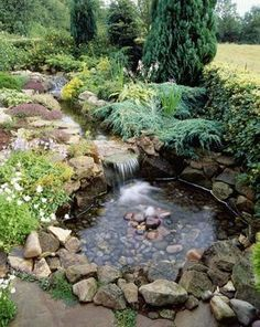 13 garden pond building tips water garden landscaping ideas Backyard Water Feature, Ponds Backyard, Garden Ponds, Koi Ponds, Backyard Waterfalls, Ponds With Waterfalls, Backyard Stream, Rain Garden, Large Backyard