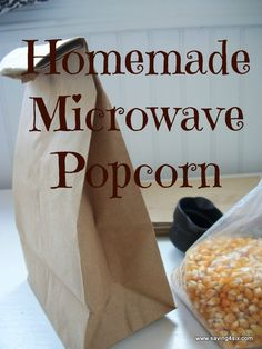 We are a popcorn eating family! It's the perfect anytime snack. With a gang the size of ours, we go through a lot of popcorn. And microwav… Appetizer Recipes, Snack Recipes, Cooking Recipes, Appetizers, Cooking Ideas, Sweet Recipes, Dessert Recipes, Healthy Snacks, Healthy Eating