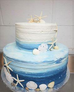 Wedding Cakes, Birthday Cake, Beach, Desserts, Food, Wedding Gown Cakes, Tailgate Desserts, Deserts, The Beach