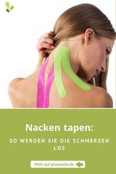 Mit dieser Anleitung können Sie Ihren Nacken tapen. #tapen #taping #nackentapen #anleitung #gesundheit